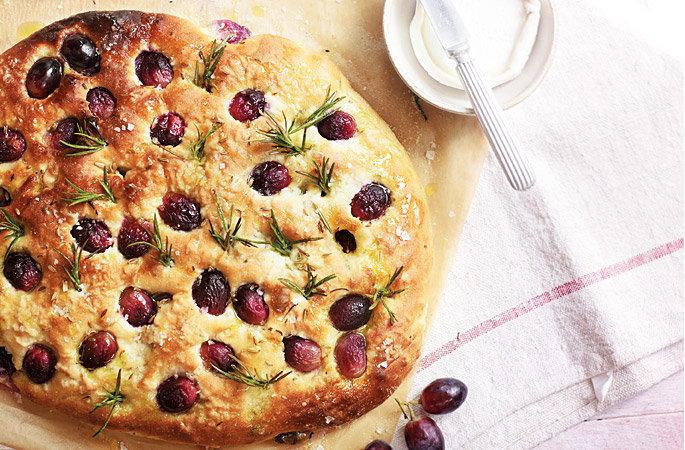 Gluten-Free Grape Focaccia With Rosemary Recipes — Dishmaps