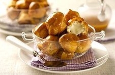 hprofiteroles with cardamon creme fraiche MILK