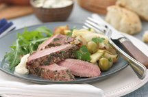 Rosemary Lamb Loin Fillets with Horseradish Crème