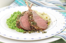 Lamb Rack with Rosemary and Honey Glaze