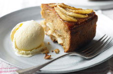 Caramelised apple cake