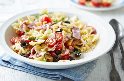 Leftover lemon and mustard pasta salad