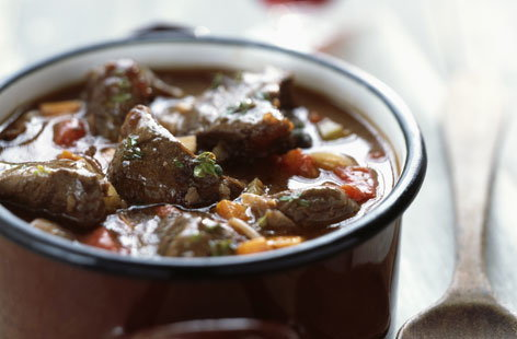 Beef and carrot bourguignon