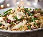 Leftover spiced turkey pilaf