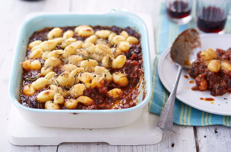 Beef ragu with baked gnocchi
