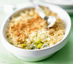 Leek & blue cheese crumble