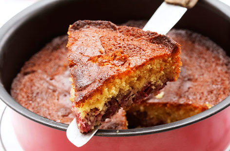 Cherry and honey cake