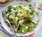 Farfalle, Roquefort, rocket & walnut salad