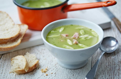 Leftover gammon and pea soup