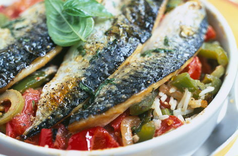 152877 mackerel with basil and basmati rice THUMB