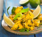 Chicken with lime and mint