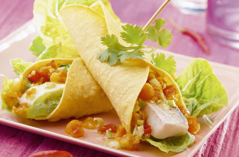 Fish and yellow pepper tortilla