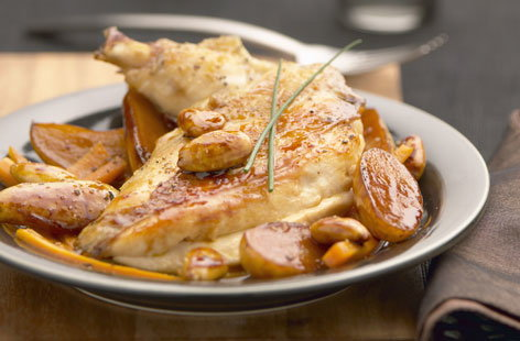Ancenis chicken with potatoes