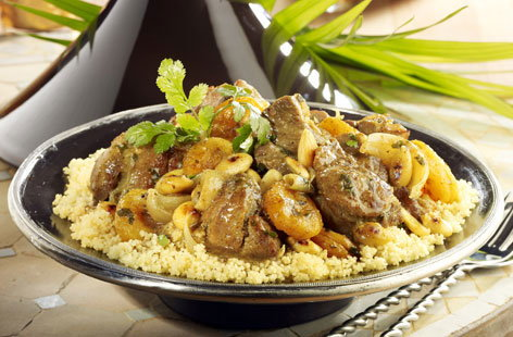 Authentic Moroccan lamb tagine