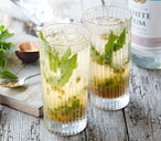 Passion fruit mojitos