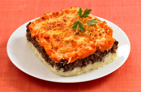 Carrot flavoured shepherd's pie