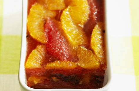 Citrus fruit terrine