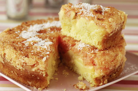 Apple and coconut cake