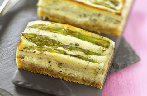 Asparagus and Parmesan cheesecake
