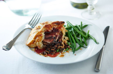 Lamb and mushroom parcels