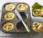 Courgette and feta bakes