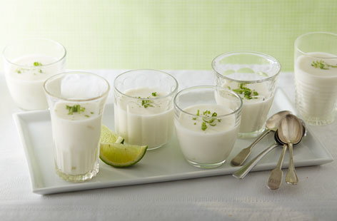 Coconut and lime panna cotta