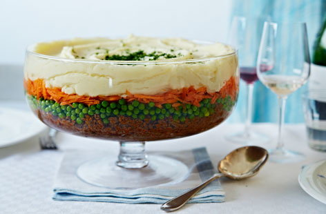 Savoury beef trifle