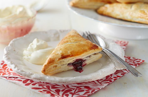 Cherry and star anise turnovers