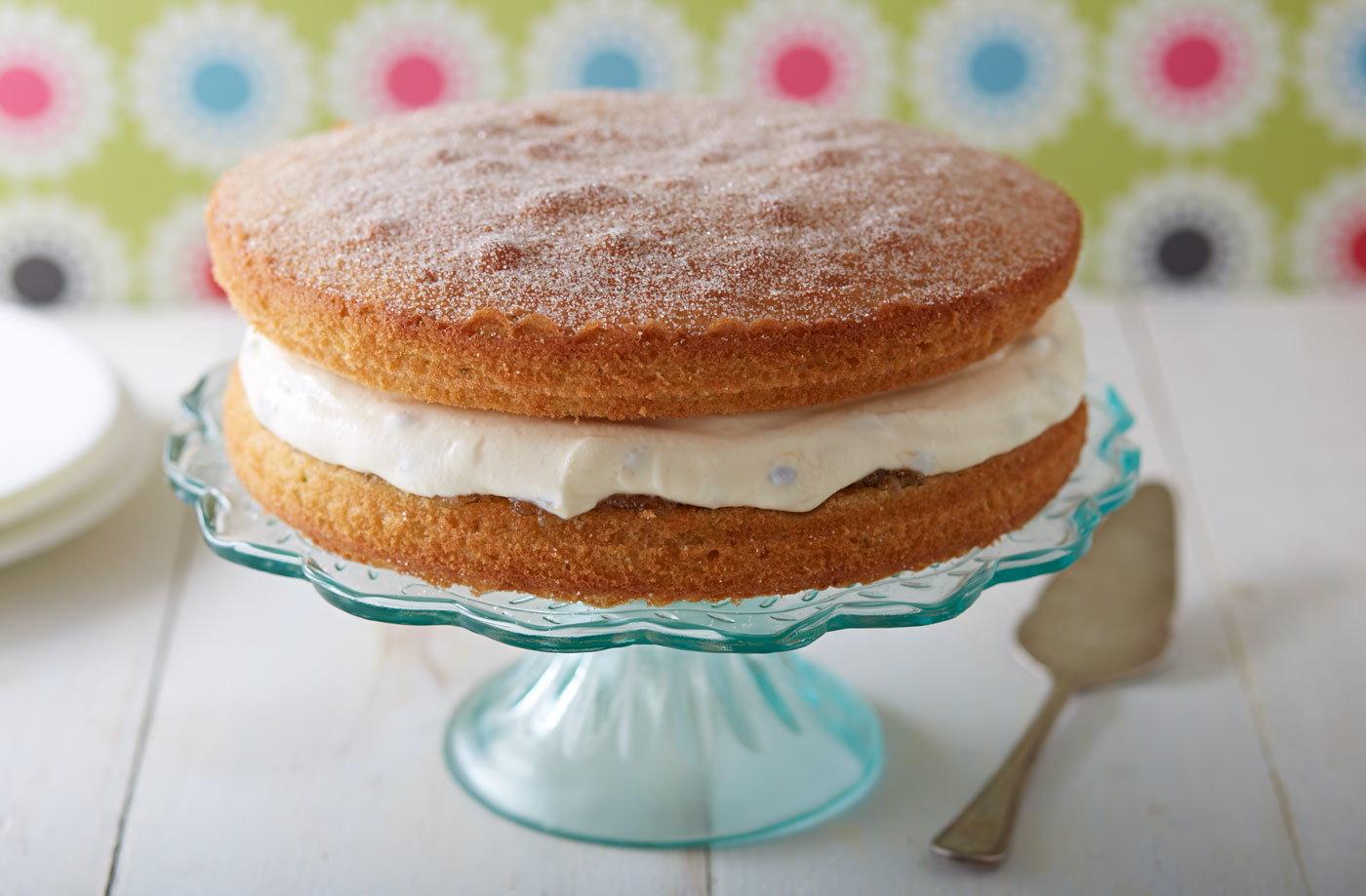 Best Sponge Cake Recipes Uk: Passion Fruit And Lime Victoria Sponge