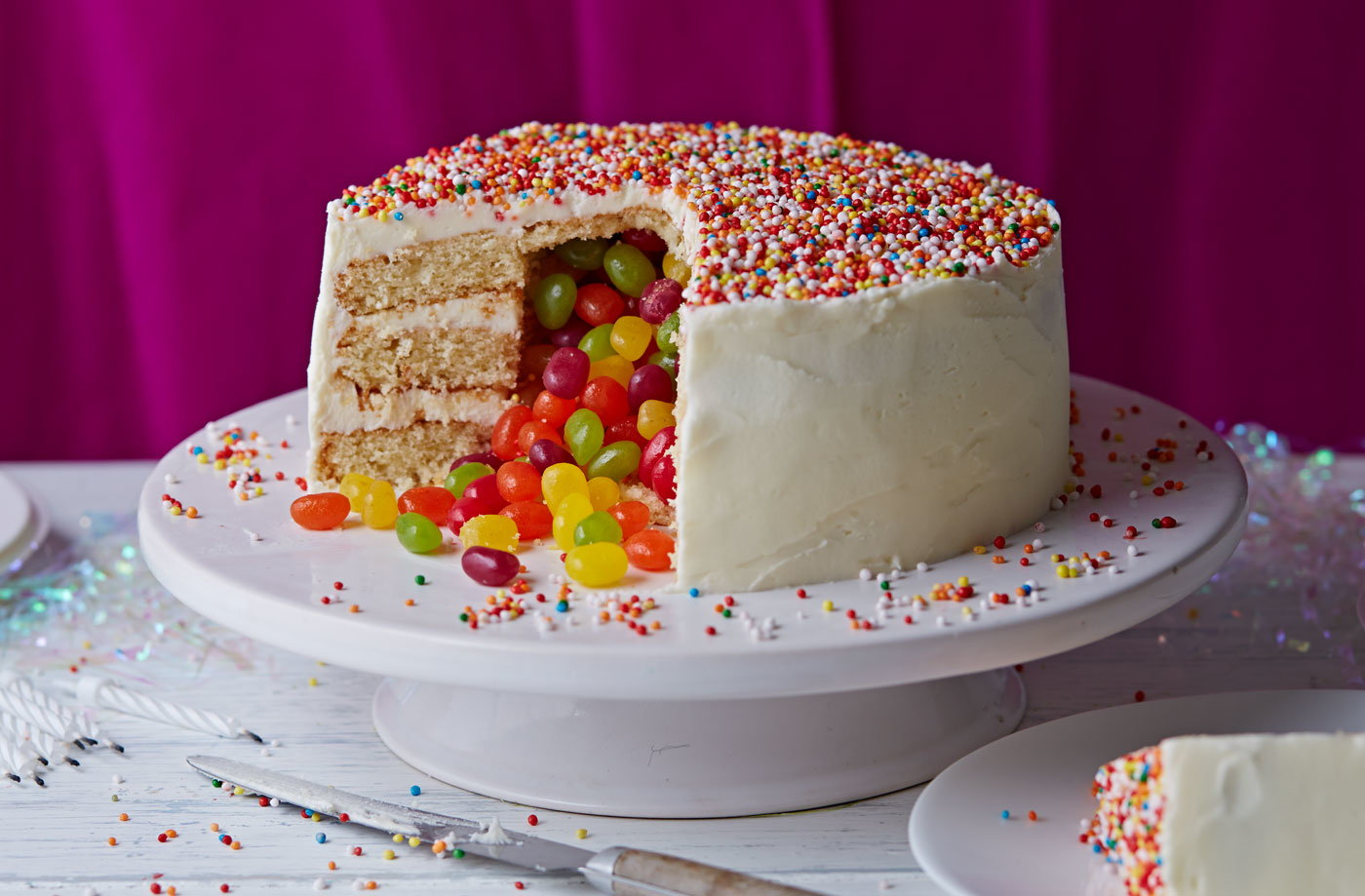 Cake With Photo Tesco : Surprise Pinata Cake Cake Ideas Tesco Real Food