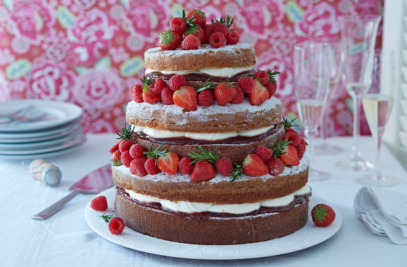 naked victoria sponge cake cake ideas tesco real food