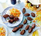 Beef kofte with apple raita