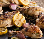 Barbecue chicken with lemon and garlic