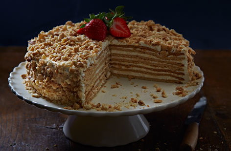 Russian Honey  Layer Cake Calories