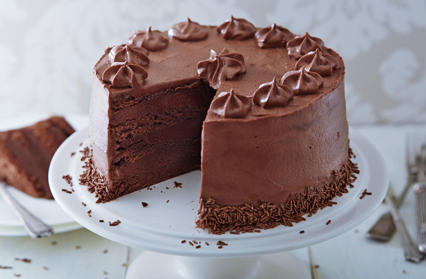 Triple Chocolate Cake Recipe Cake Recipes Tesco Real Food