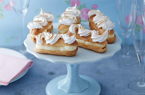 Lemon meringue eclairs