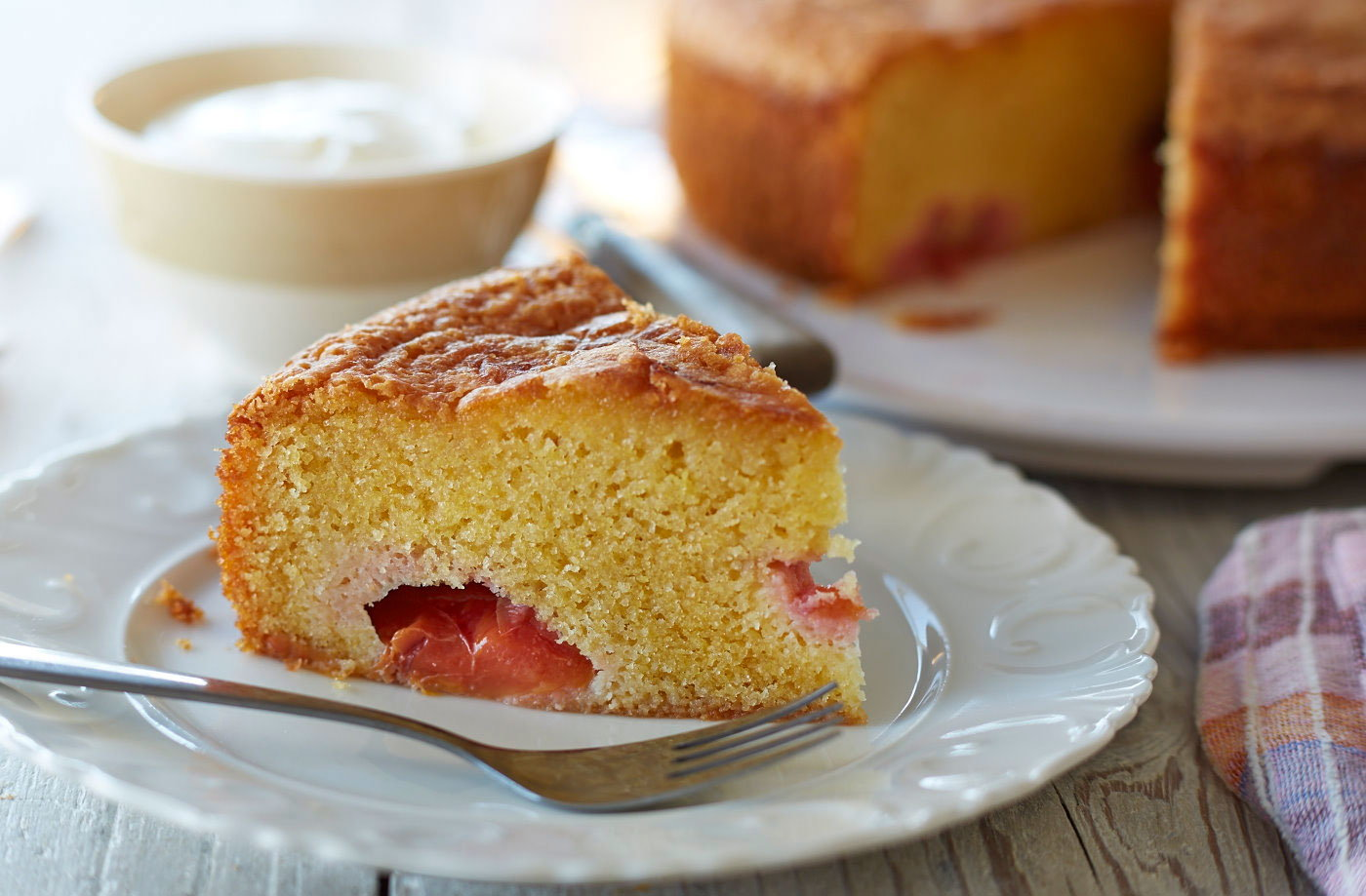 plum cornmeal cake plum cornmeal cake with sorbet plum cornmeal cake ...