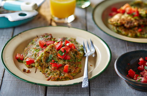 Moroccan courgette fritters