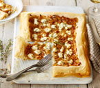 303 vegetarian caramelised onion goats cheese tart (T)
