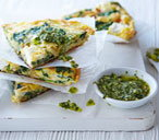 Spinach and goat's cheese frittata