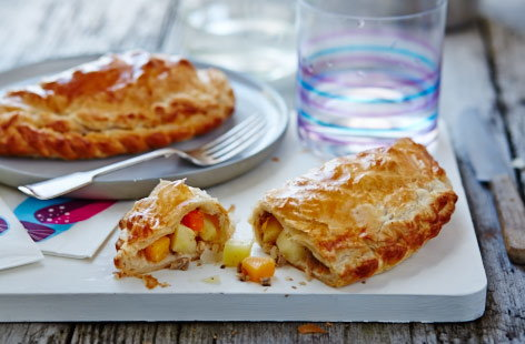 Leftover pork and vegetable pasties