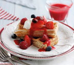 4th July berry waffles