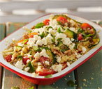 Barbecued courgette and couscous salad with feta