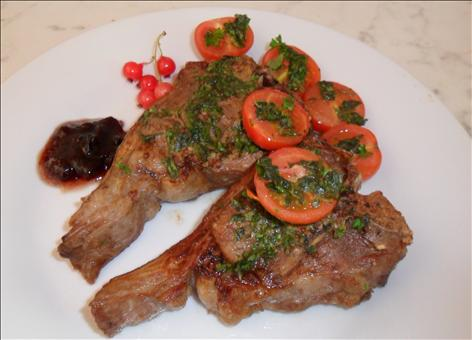 Barbecue lamb chop with Dijon mustard & Worcestershire Sauce