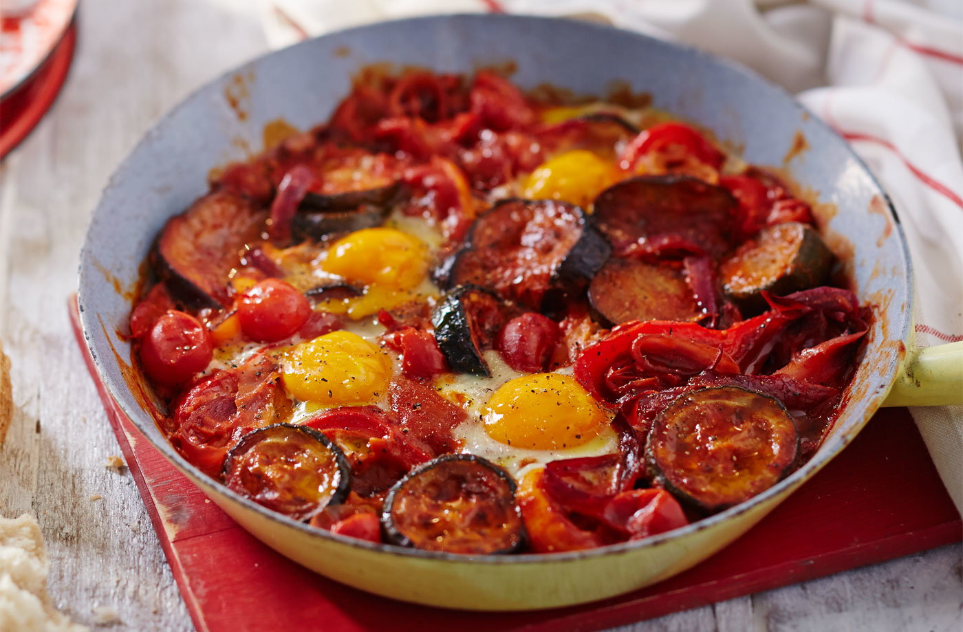 One Pan Ratatouille Eggs Tesco Real Food