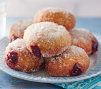 Black cherry doughnuts