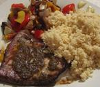Pan fried Tuna with Moroccan-spices