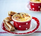 Alyn Williams's cheesy egg with Marmite soldiers