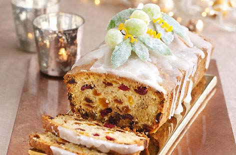 Apricot, almond and cranberry cake