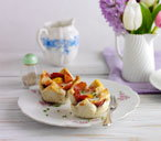 Bacon and egg toast cups (T)